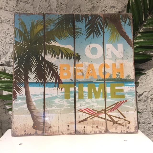 インテリアピクチャー/ON BEACH TIME★【ハワイアンインテリア】