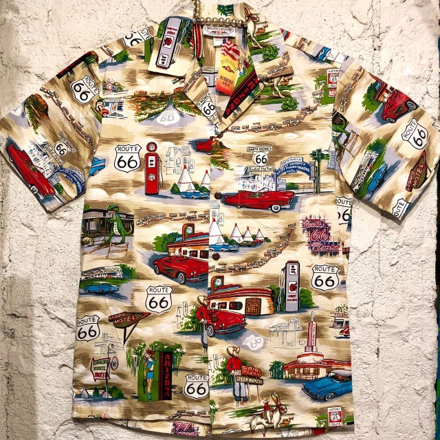 Mensアロハシャツ /ルート66