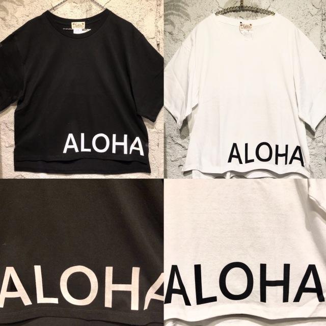 BIGアロハレディースTシャツ/F【アロハラバーズ】