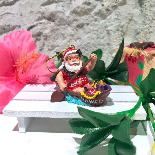 ハワイアンクリスマスオーナメント//海からやってきたサンタさん