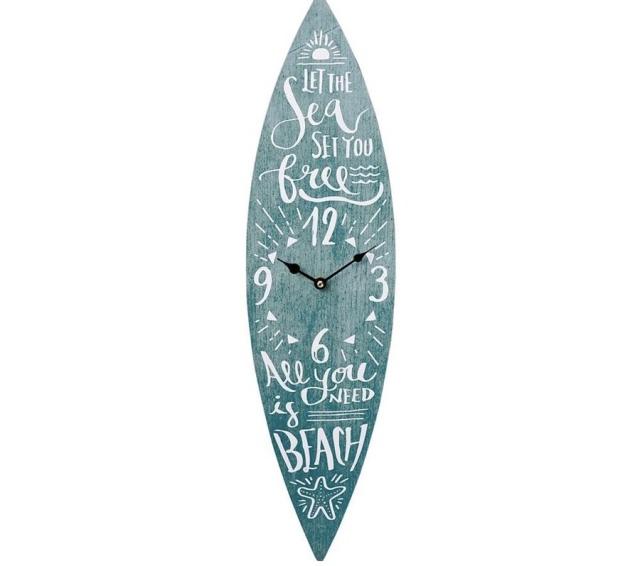 サーフボードの時計/二種【ハワイアン雑貨】