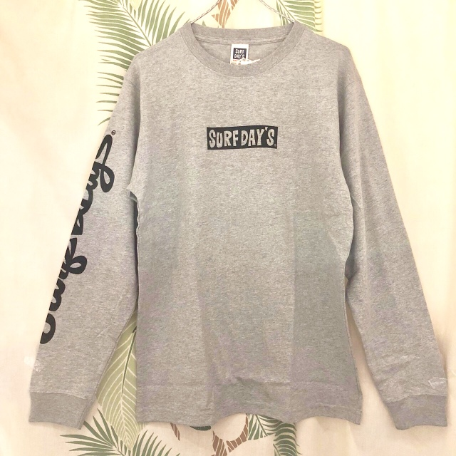 """【SURF DAY'S】メンズロンTee""""WIPEOUT"""" GRY/M/L/"""