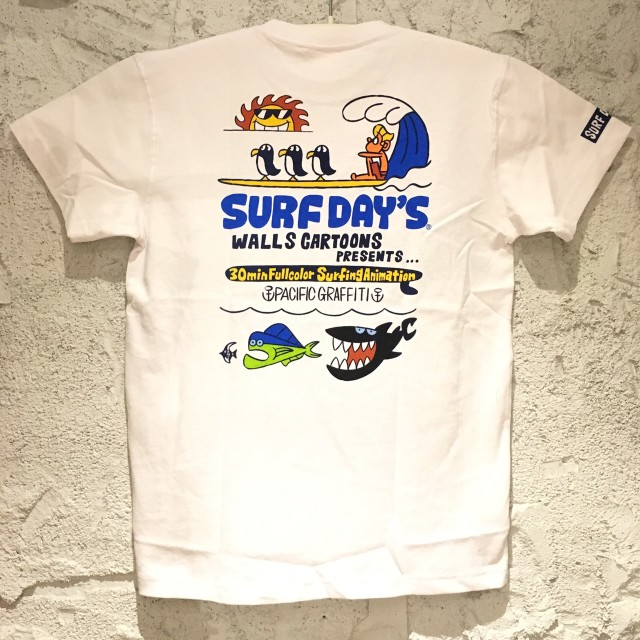 SALE【SURF DAY'S】メンズ半袖Tee パシフィックG  WH/M/L/