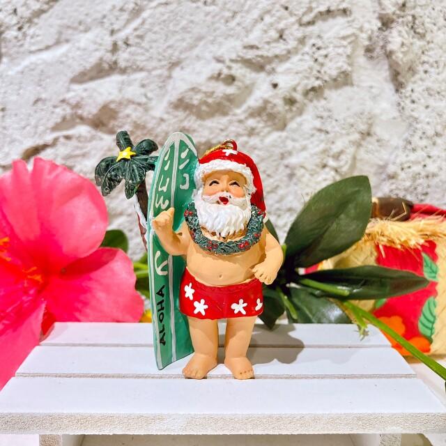 ハワイアンクリスマスオーナメントデュークみたいなサンタさん