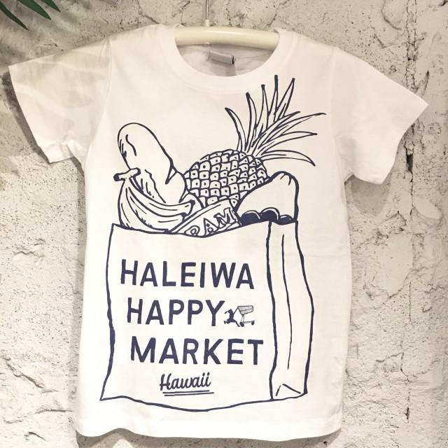 ハレイワハッピーマーケット半袖Tee /SML/WH【アロハラバーズ】