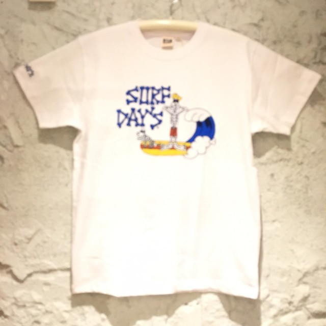SALE【SURF DAY'S】メンズ半袖Tee スカルsurfer WH/M/L/