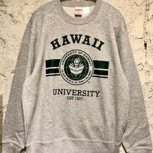 【Hawaii大学】ユニセックストレーナー/bk/gry/wh/M/L/