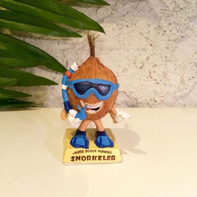 ミニドール/ココナッツSnorkeler【ハワイアン雑貨】
