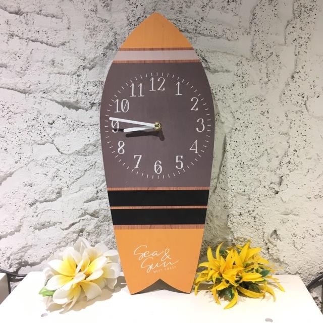 サーフボードデザイン時計【ハワイアン雑貨】
