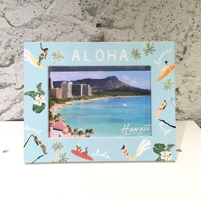 SURF GIRLフォトフレーム【ハワイアン雑貨