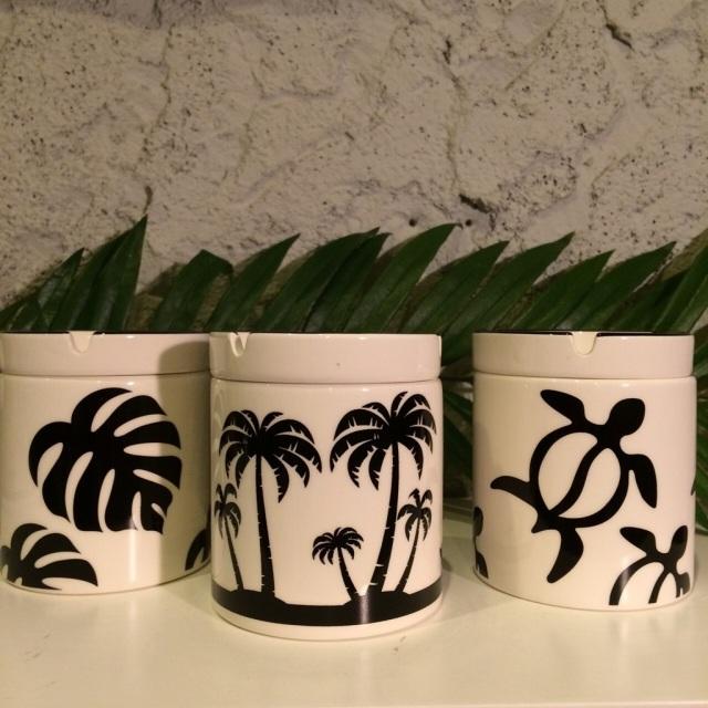 ハワイアン柄アシュトレイ(灰皿)三種類