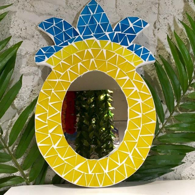 ハワイアンなお部屋に/パイナップルミラ~BL【ハワイアン雑貨】