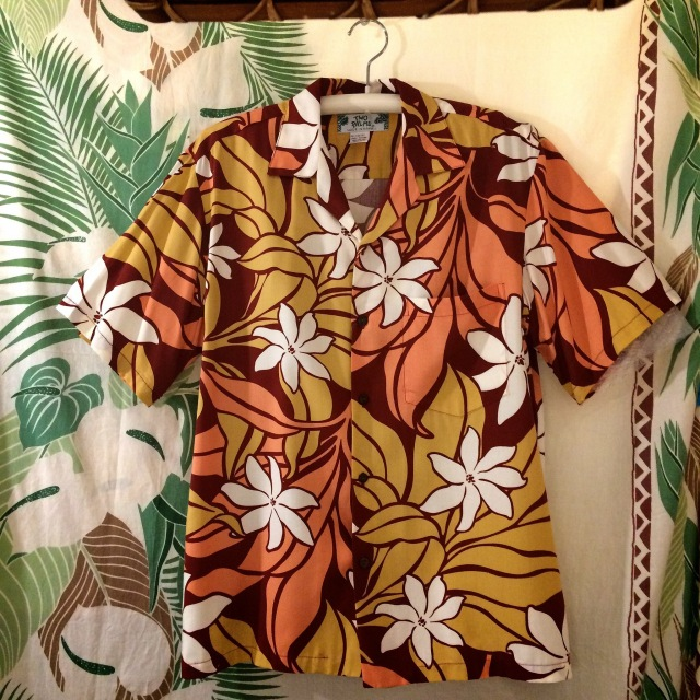 Mensアロハシャツ /TIARE BR/Mサイズ