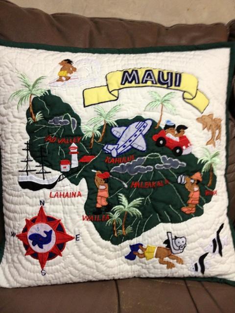 ハワイアンクッションカバーマウイ島オフホワイト