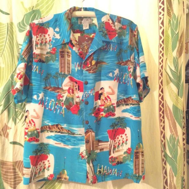 MensアロハシャツAvanti/BLUE Aloha