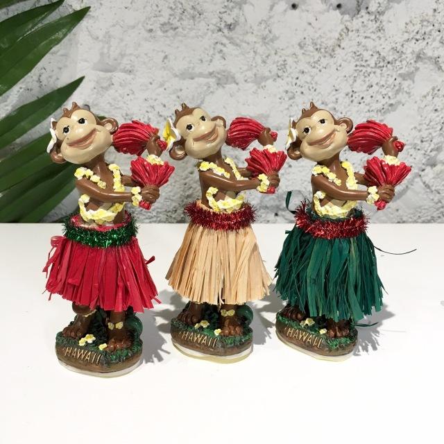 カウアイ島からミニフラドール/モンキー【ハワイアン雑貨】