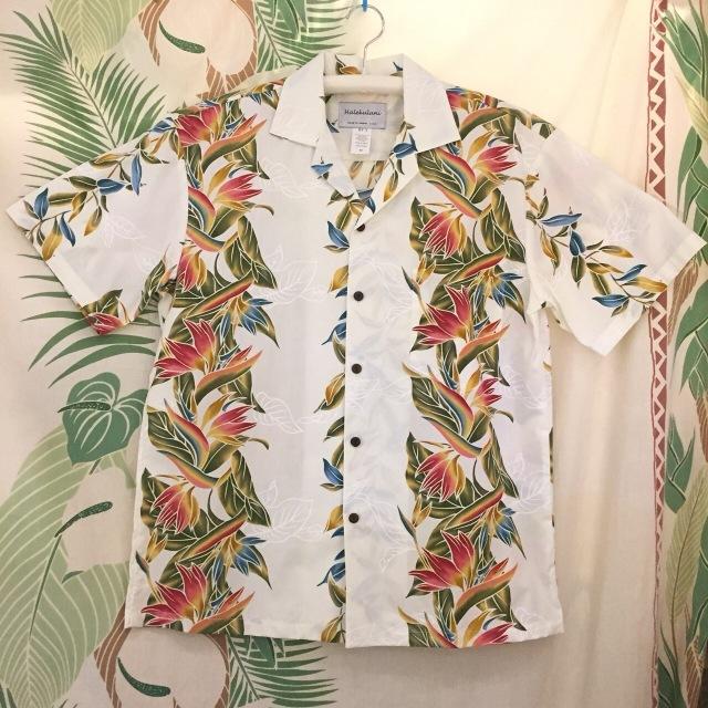 Mensアロハシャツ /バードオブバラダイスWH/Mサイズ