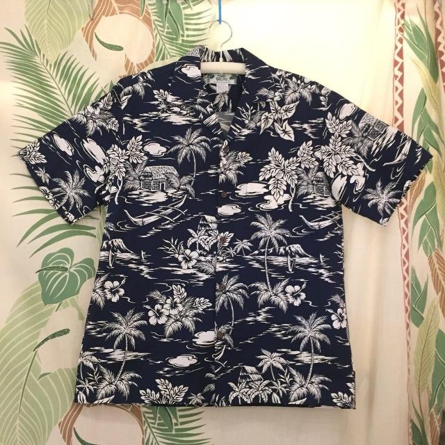 Mensアロハシャツ /サーフシャックNVY/Mサイズ