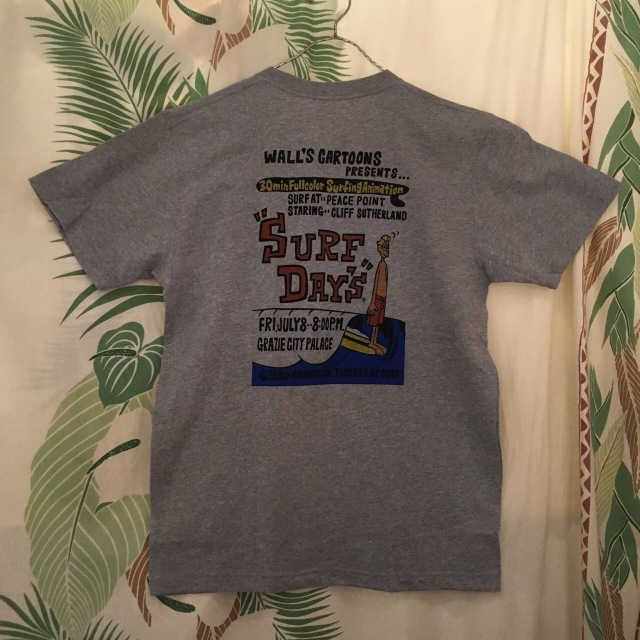 "【SURF DAY'S】メンズ半袖Tee""Walls Cartoons"" GRY/M/L/XL"