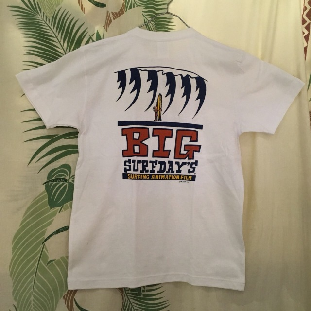 "【SURF DAY'S】メンズ半袖Tee""BigWave"" WH/M/L"
