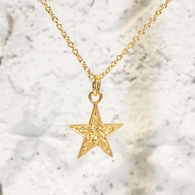 ■G HOKU(星)+50cmチェーンセットGLDカラー