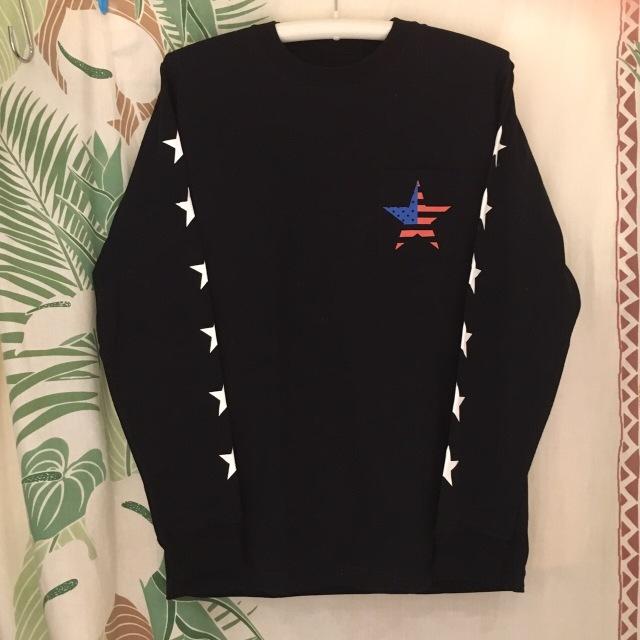 【ポケット星USAT】メンズロンTeeBK/M/L/