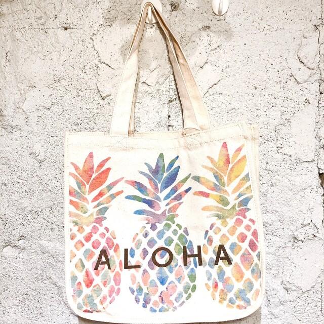 パイナップルキャンバストートバッグ/ハワイアン雑貨
