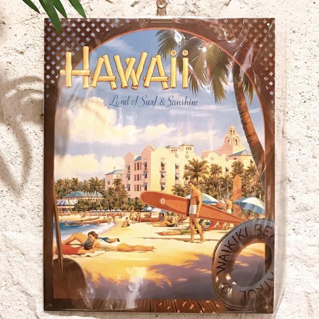 インテリアプレート/ハワイアンブリキ看板ボード3【ハワイアンインテリア】