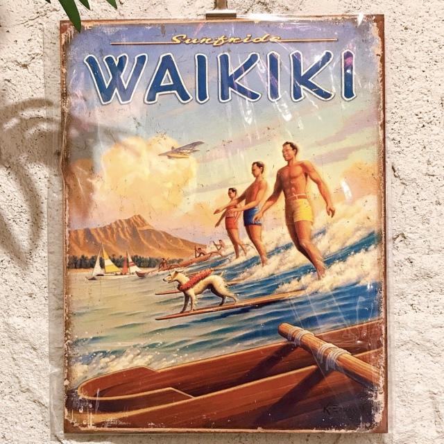 インテリアプレート/ハワイアンブリキ看板ボード4【ハワイアンインテリア】