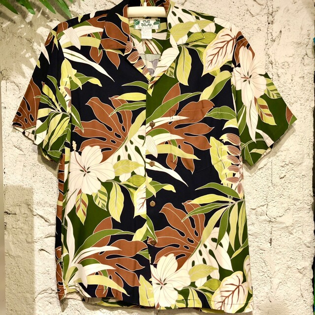 Mensアロハシャツ/Tropical Forest/Navy