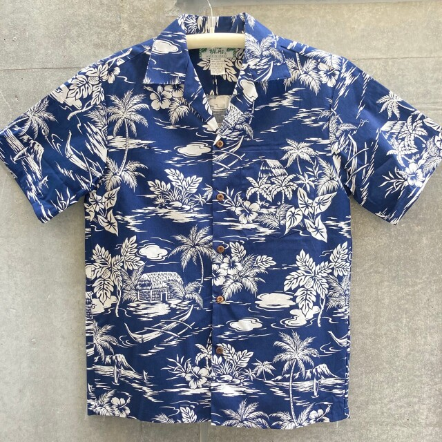 Mensアロハシャツ /Love Shack/Navy