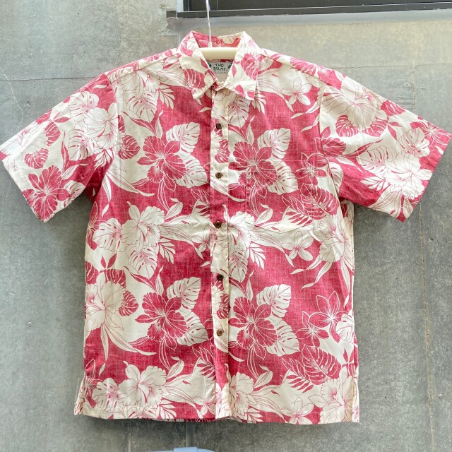 Mensアロハシャツ/Reverse/Monstera Orchid/Red・Navy