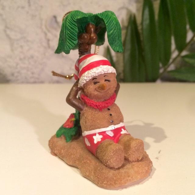 ハワイアンクリスマスオーナメント サンドマンとヤシの木