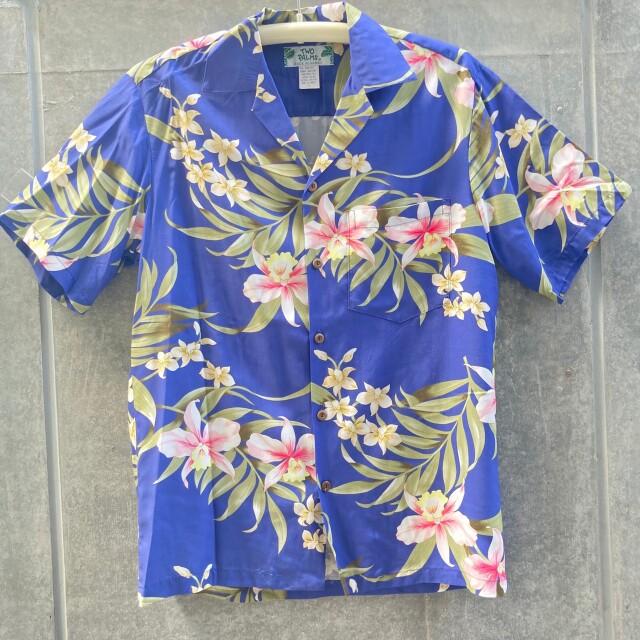 Mensアロハシャツ/Pali Orchid/Blue