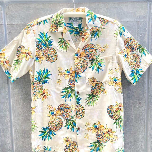 Mensアロハシャツ/Golden Pineapple/Cream