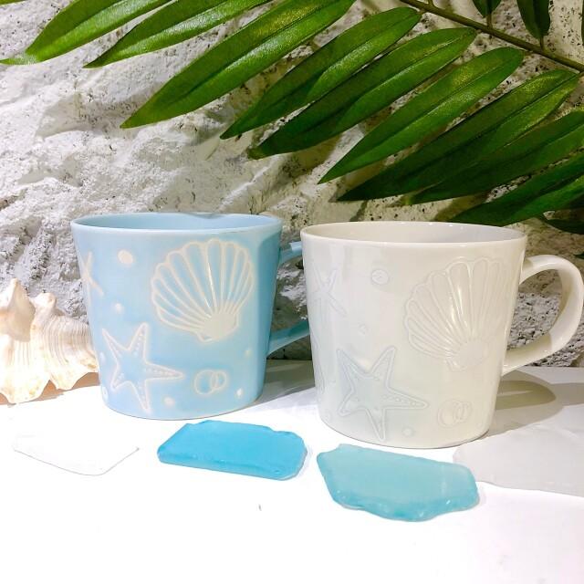 マグカップ MERMAIDウォーターブルー/ホワイト