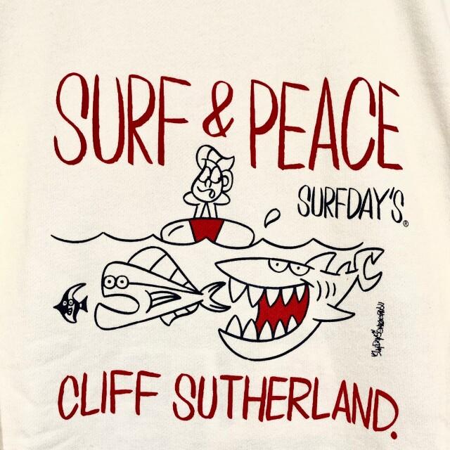 【SURF DAY'S】メンズトレーナーシャーク/ホワイト/M/L/