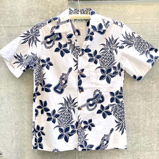 Mensアロハシャツ /Ukulele/White
