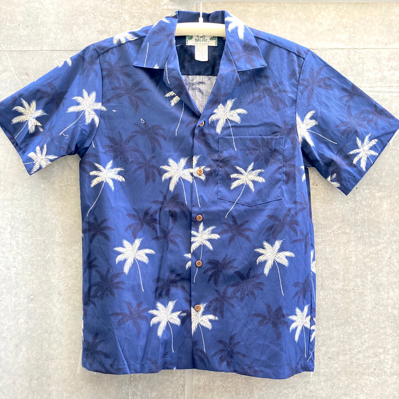 Mensアロハシャツ /Palm/Navy