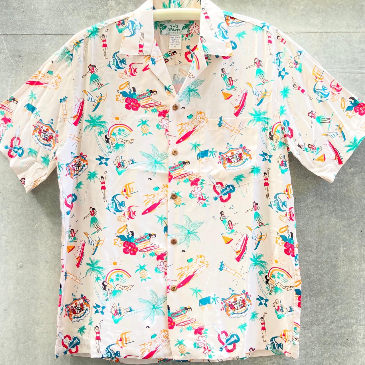 Mensアロハシャツ/Vintage Aloha/Cream・Light Blue