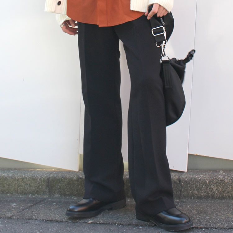 【新着】Cuirs(キュイー)メンズパンツ オリジナルワンタックワイドフレアパンツ新作デザイン