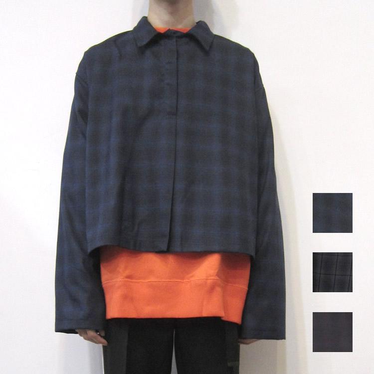 【新着】Cuirs(キュイー)メンズシャツ オリジナルショート丈ハーフZIPシャツ新作デザイン