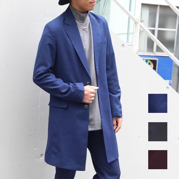 【セール】Cuirs(キュイー)メンズチェスターコート セットアップロングチェスターコート新作デザイン