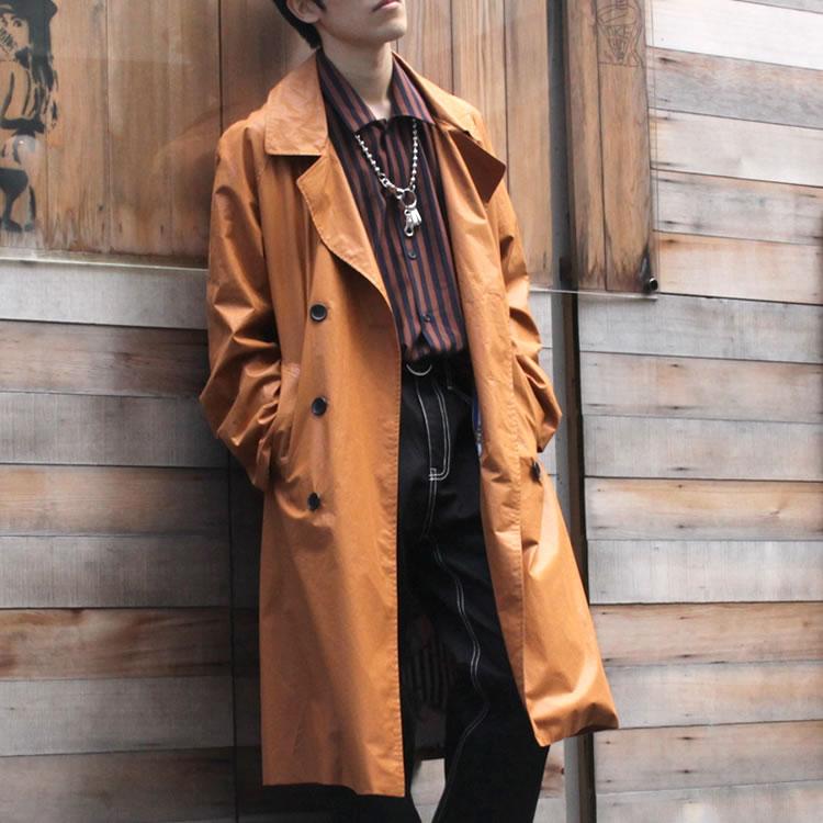 【新着】Cuirs(キュイー)メンズコート オリジナルダブルブレストロングコート新作デザイン