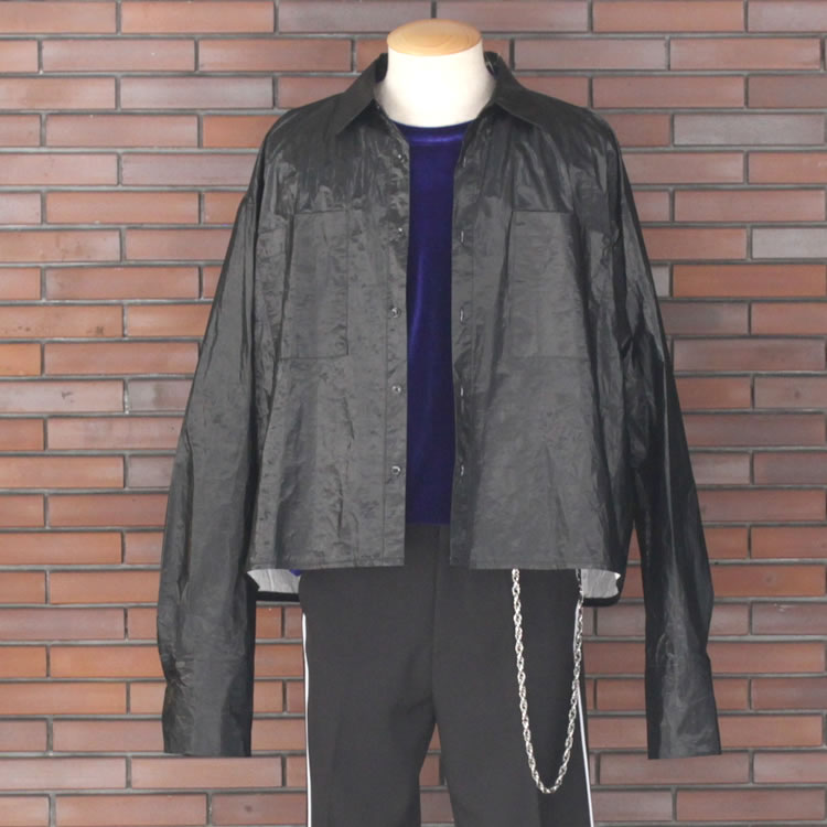 【新着】Cuirs(キュイー)メンズシャツ オリジナルナイロンコーティングボレロシャツ新作デザイン