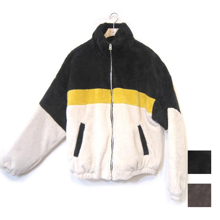【新着】Cuirs(キュイー)メンズジャケット オリジナル切り替えボアブルゾン新作デザイン