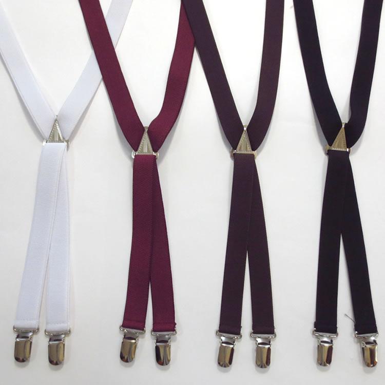【新着】Cuirs(キュイー)メンズサスペンダー レギュラー巾カラーサスペンダー 新作デザイン