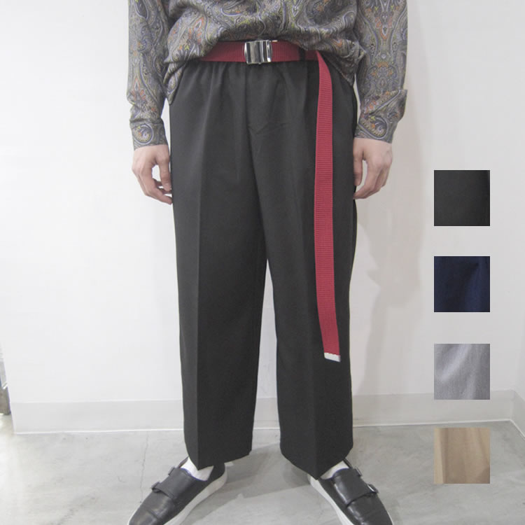 【SamuraiELO12月号9月号7月号雑誌掲載】【新着】Cuirs(キュイー)メンズスラックス  オリジナルセンタープリーツワイドパンツ新作デザイン