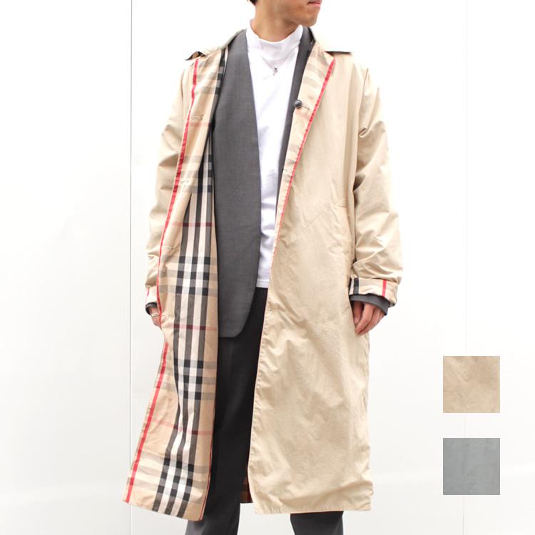 【新着】Cuirs(キュイー)メンズコート オリジナルリバーシブルAラインロングステンカラーコート新作デザイン