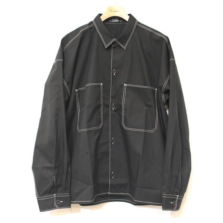 【新着】Cuirs(キュイー)メンズシャツ オリジナルステッチオーバーサイズシャツ新作デザイン
